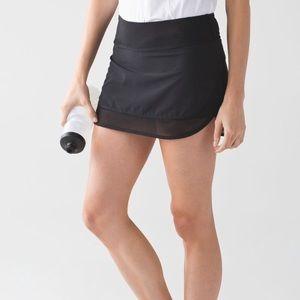 Lululemon Hotty Hot Skirt II Black Tennis Skirt